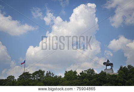 A Horseback Riding Jan Zizka Statue