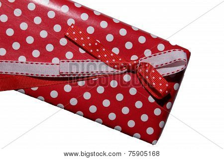 Gift bow on the box.