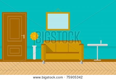 Flat vector illustration for sitting-room