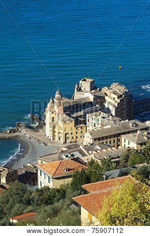 A Landscape Of A Beautiful Village, Camogli, Liguria, Italy