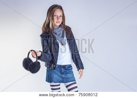 Young Teenager Girl Posing