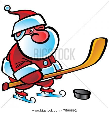 Santa Hockey