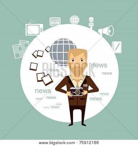 journalist photographs illustration