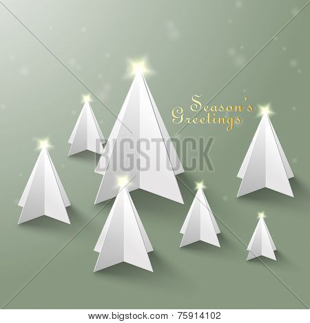 Vector Paper Christmas Tree Sculptures