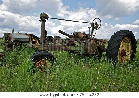Old  tractor steering column