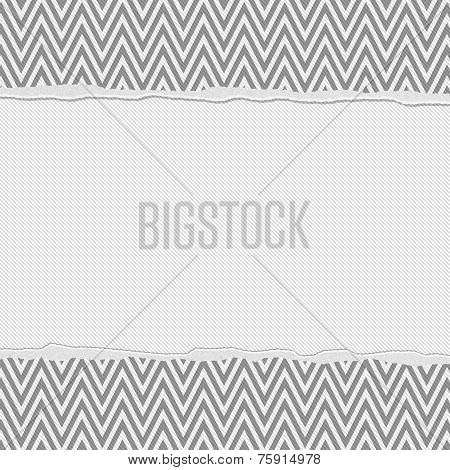 Dark Gray And White Torn Chevron Frame Background