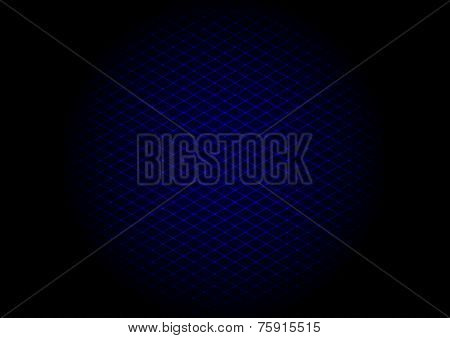 background of blue laser grid in circle