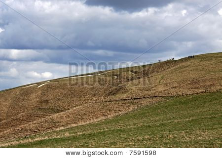 View of the 3000 year old White Horse