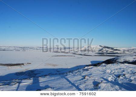 gefrorene Loch leven