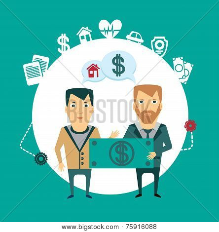 insurance agent reimburses loss of money illustration