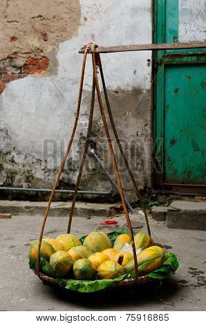 Sale Of Fruits In Vietnam