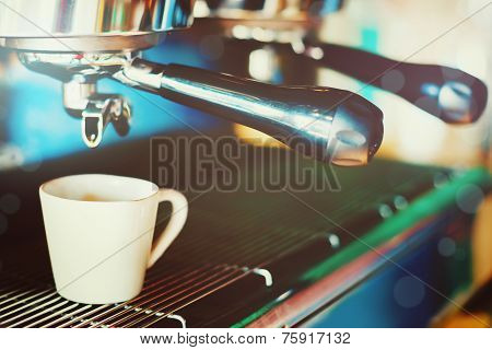 Coffee Machine Making Espresso