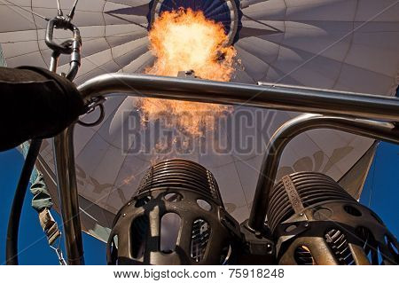 The Flame Of A Hot Air Balloon