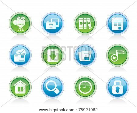 Vector Computer and website icons
