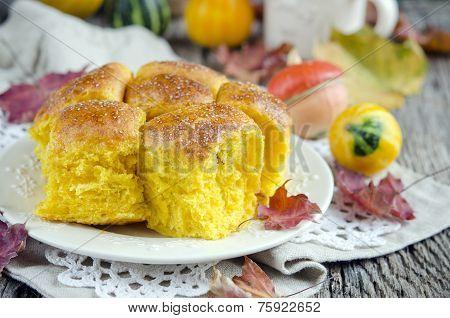 Pumpkin Brioche, french bread