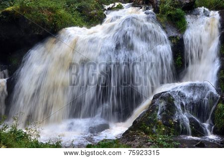 Middle Waterfall In Triberg