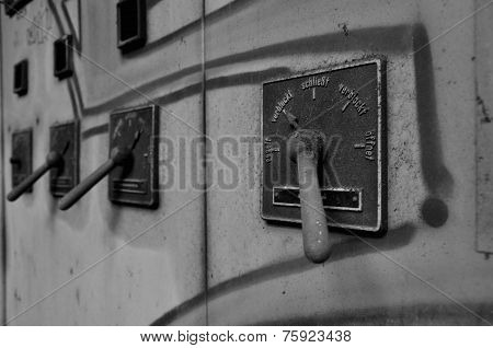Lever Of An Old Fuse Box