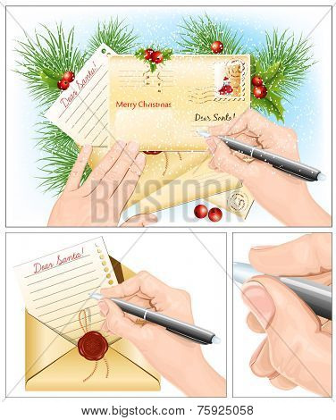 Letter to Santa Claus. Vector illustration