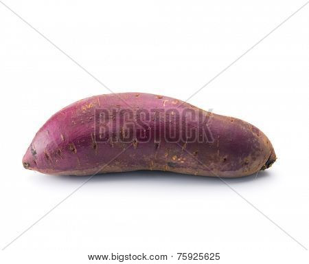 Yam, satsumaimo,or sweet potato isolated on white.