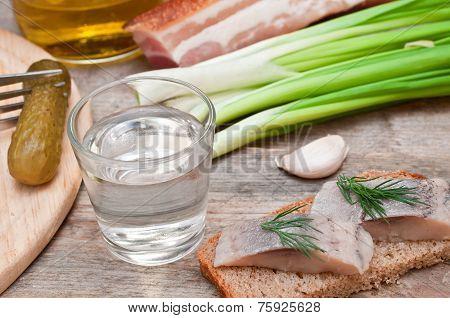 Vodka, Green Onion, acon Sandwiches