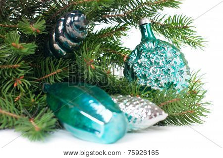 Decorations And Spruce Branches