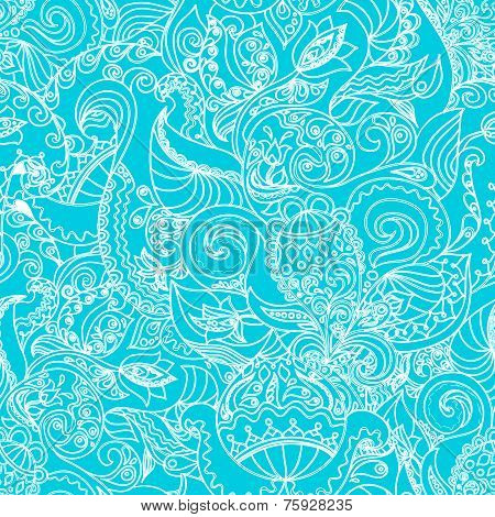Seamless floral background pattern in vector.