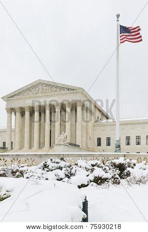 Supreme Court in Winter - Washington DC, United States
