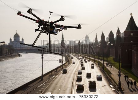 Drone In The Skies Of Moscow