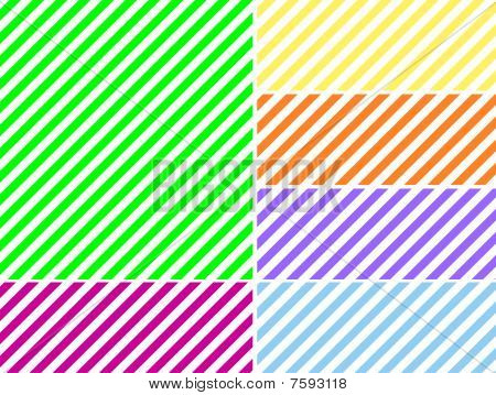 Vector EPS8 Diagonal Striped Background in Six Colors