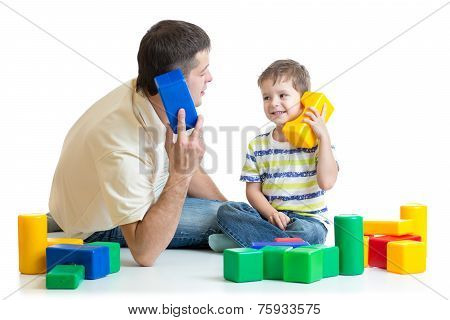 father and boy role play