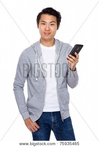 Man use of mobile phone