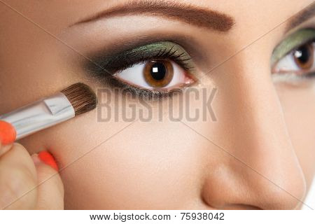 Glamour make up  eye close up