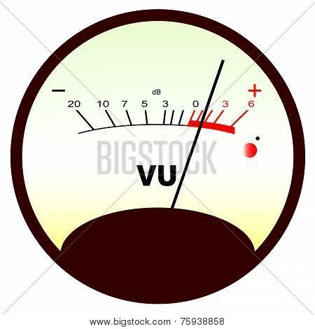 Round Vu Meter