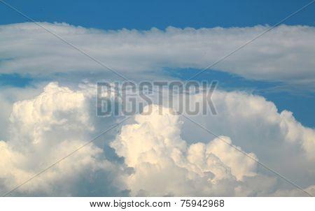Beautiful White Cumulus Clouds Against