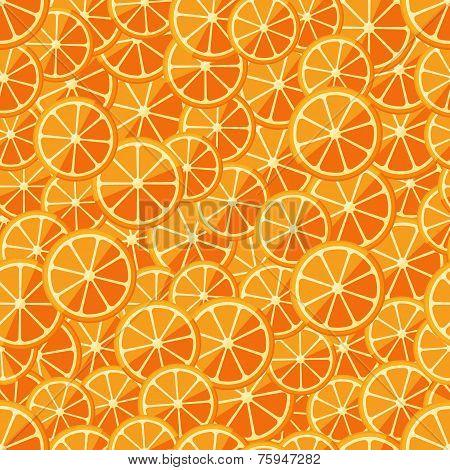 Seamless pattern chopped orange