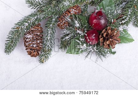 Snowy Holiday Decoration