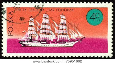 Vintage  Postage Stamp. Sailing Ship An