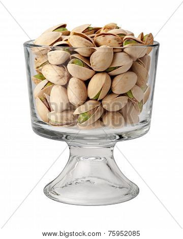 Pistachio Nuts In A Dessert Glass