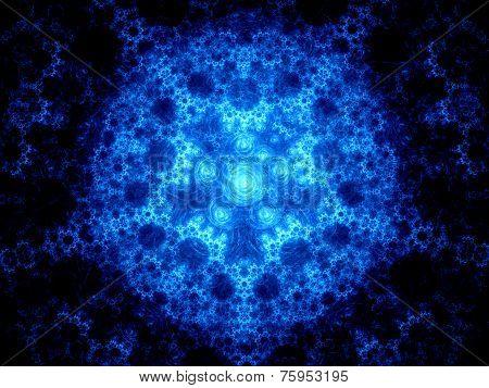 Blue Glowing Artificial Intelligence