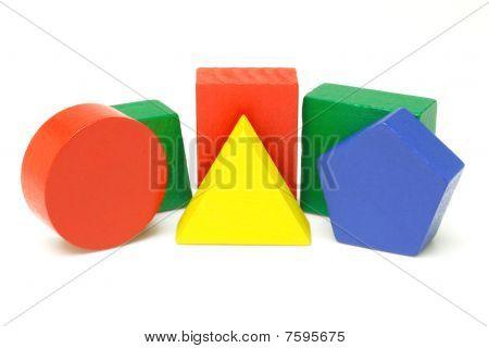 Wooden Geometric Blocks