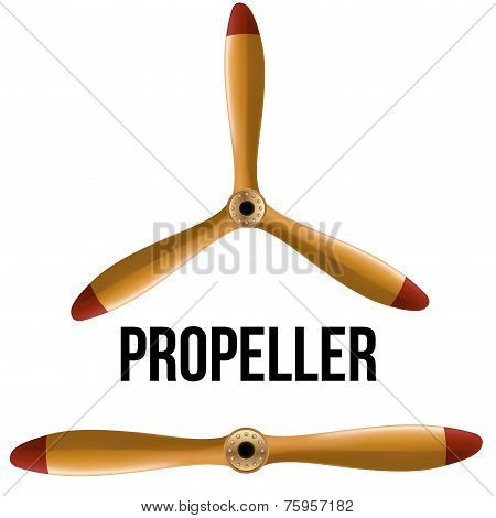 Set of Airplane classic wood propellers.