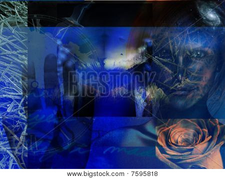 Abstract Grunge Blue