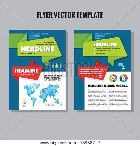 Abstract geometric brochure vector template. Flyer vector template. Infographic elements. Abstract w