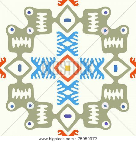 Abstract vector seamless background, native primitive style
