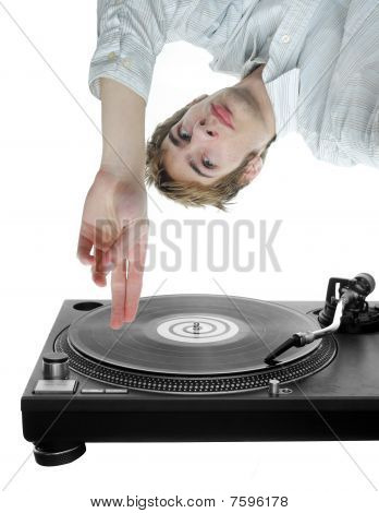 Dj Scratching Record
