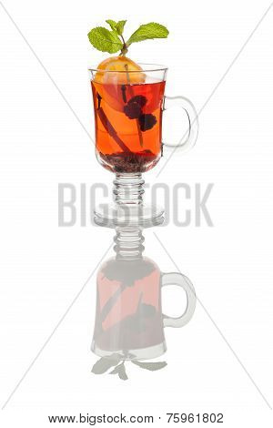 Glass Mug Of Hot Grog