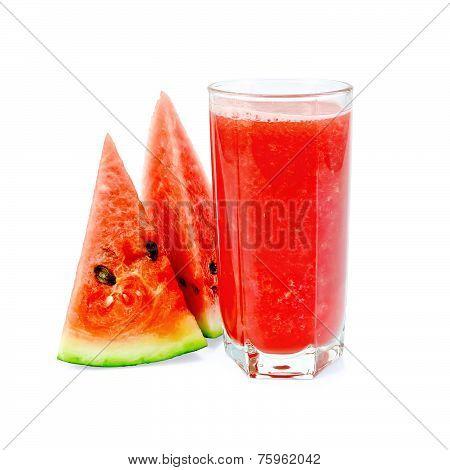 Juice watermelon in glass