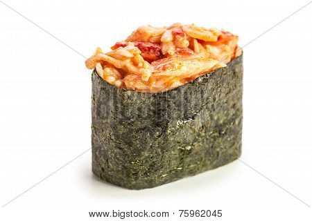 Spicy Kani Gunkan Maki Sushi