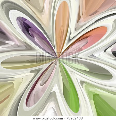 Abstract Colorful Bloom Shape