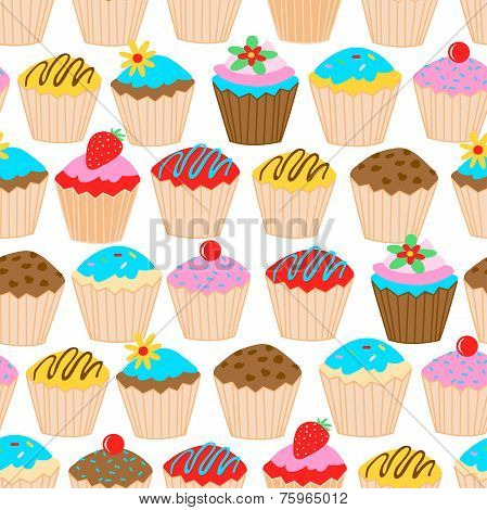 Little Cupcakes Seamless Pattern